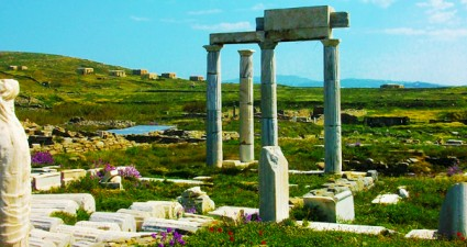 Delos island, the birthplace of Apollo