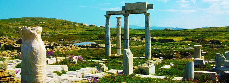 Delos island, the birthplace of Apollo