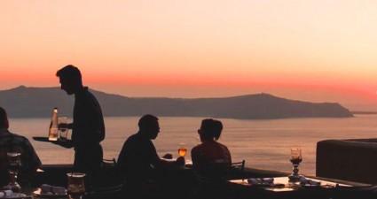 top terraces sunset cocktail  santorini