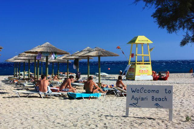 Best beaches in Mykonos - Agrari Beach