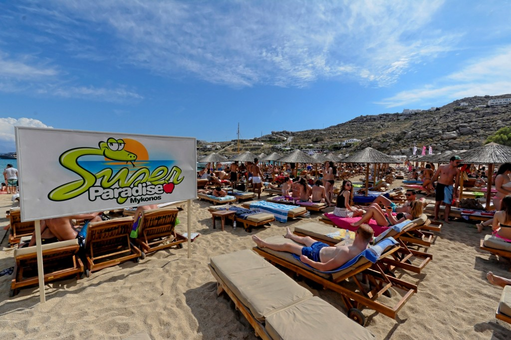 Located Some 6 Km South East Of Mykonos Town Super Paradise Beach Is The Most Alternative And Anti Conformist On Island Virtually Void Hotels