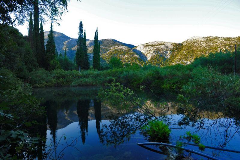 Ainos mountain hidden lake