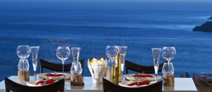 mykonos dine with a view