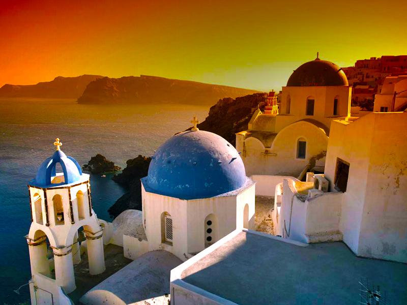 Scarlet Santorini Sunsets