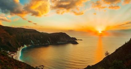 amazing kefalonia myros sunset wallpaper